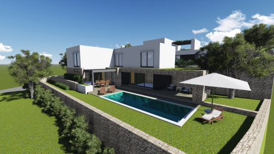 Local permit for villa with pool